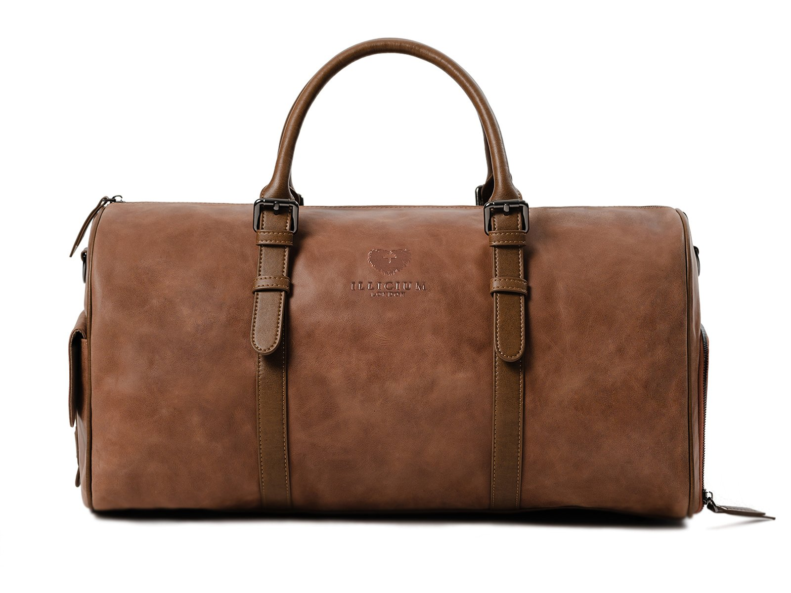 kingsman tan leather duffle bag